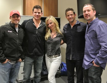 98 Degrees backstage