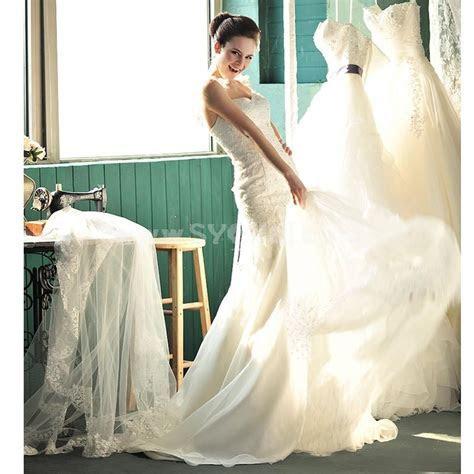 MTF Strapless Sweetheart A line Mermaid Wedding Dress