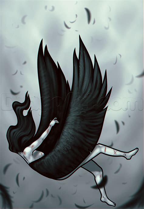 draw  falling angel step  step concept art