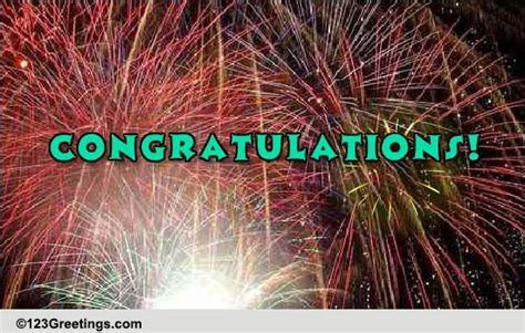 Sparkling Congratulations! Free For Everyone eCards