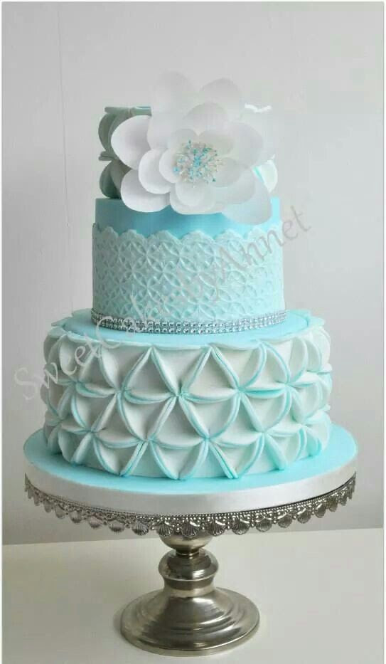 Southern Blue Celebrations Light Blue Wedding Cakes