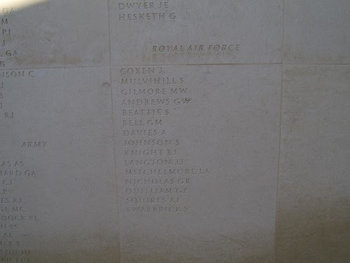 The Last Set Of Names on the Memorial