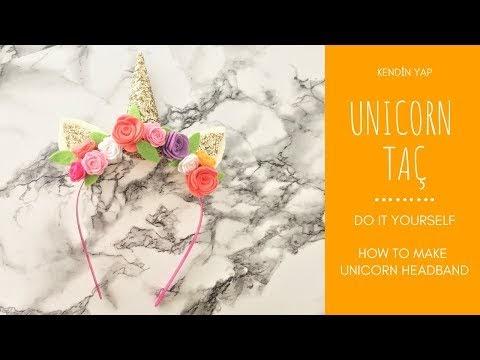 Unicorn Taç Yapımı Kendin Yap
