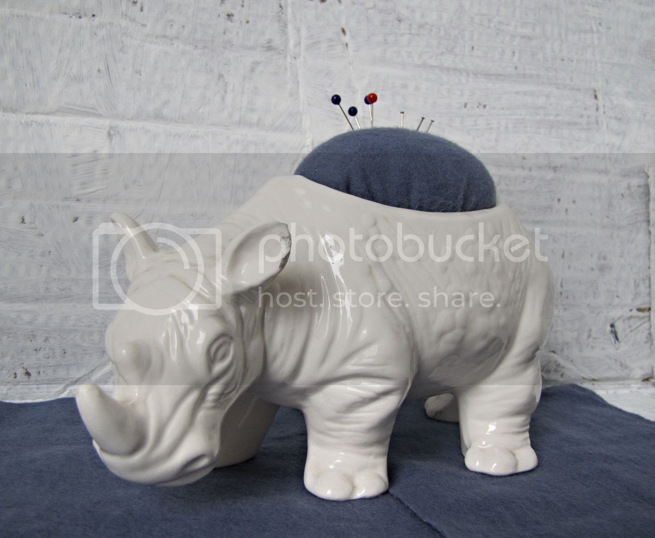 rhino pincushion from floral container - Indietutes.blogspot.com photo 9d98a044-8aad-4333-8cd8-0719e5e1188d.jpg