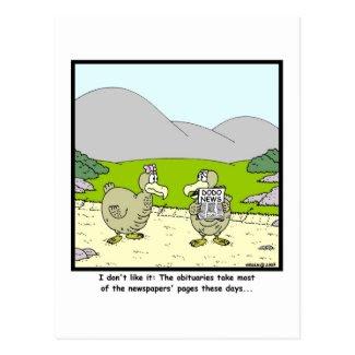 Dodo News: Dodo cartoon Post Card