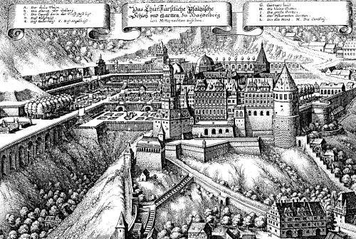 Die Rabenfrau: Garten vom Heidelberger Schloss