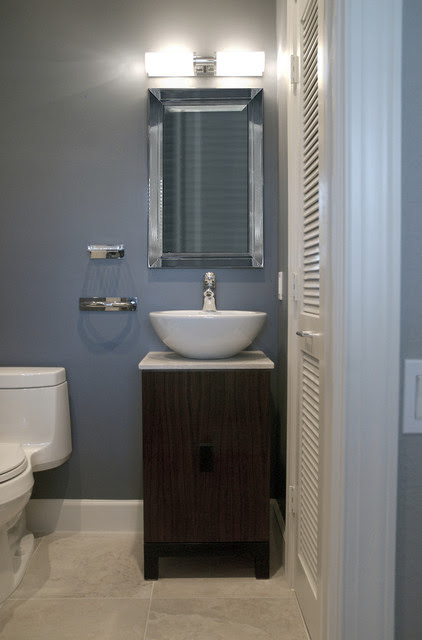 Half Bath - Contemporary - Bathroom - boston - by Megan ...