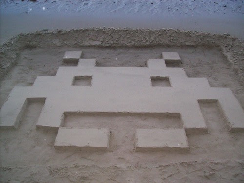 Giant Space Invader created by Martin Artman