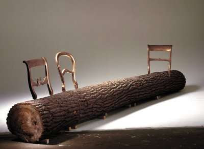 45 Terrific Tree Trunk Creations - From Woodland Record Players to