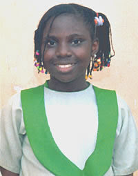 AS you can see, I'm a beautiful girl because I'm dark in complexion. I like to look nice and beautiful always. My mum always encourages me every time I appear clean, that, I'm black and I'm shining. I sweep my room, lay my bed and clean our sitting room always. I learn how to be clean from my mum because she dresses well. She is my role model when it comes to looking good. - Iremide Oyelaja, 10-year-old, Pry 4. (THIS NIGERIAN MOTHER TAUGHT HER DAUGHTER TO BE PROUD OF HER BLACK BEAUTIFUL SKIN COLOR UNLIKE MICHAEL JACKSON'S FATHER WHO TOLD HIM HIS BLACK FEATURES WERE UGLY! TEACH YOUR BLACK CHILDREN TO LOVE THEIR BLACK FEATURES-NOSE,MOUTH,BLACK SKINNED BEAUTY!(IBADAN,NIGERIA)