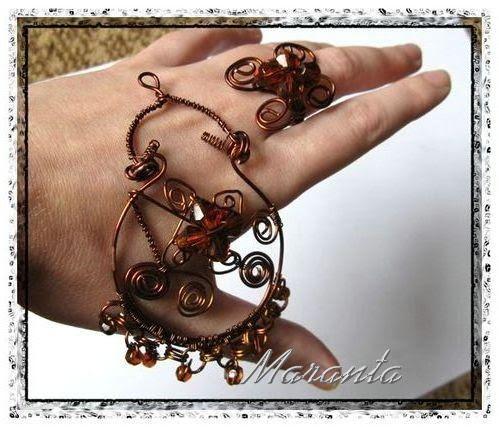 wire wrapping pierścionek