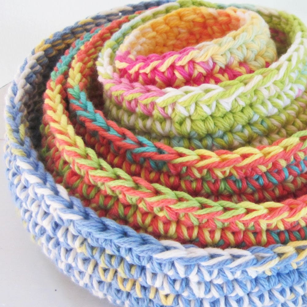 Nested Cotton Gypsy Bowls Set of 5
