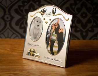 18th Birthday Then Now Photo Frame Featured Birthday Gift