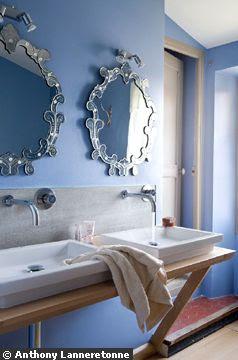 Bleue, la salle de bains !