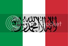 Bandera de Italia, versión islámica