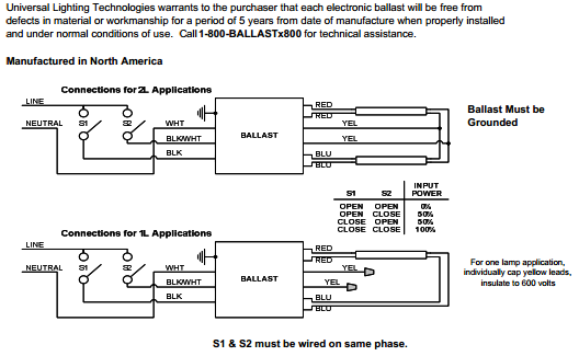 Philip Advance Ballast Wiring Diagram T5 454
