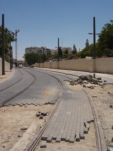 Light rail tracks