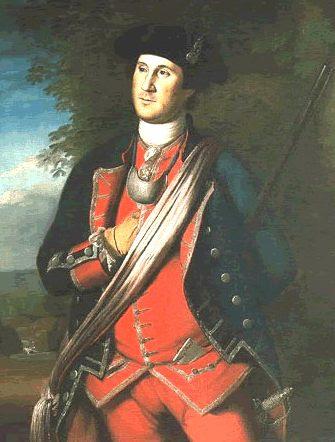 Η πιο παλιά πορτρέτο της Ουάσιγκτον, ζωγραφισμένο το 1772 από τον Charles Willson Peale, δείχνει Ουάσιγκτον στολή συνταγματάρχη του σύνταγμα της Βιρτζίνια