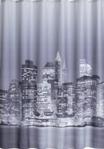 lisopo rideau de douche manhattan new york noir blanc. Black Bedroom Furniture Sets. Home Design Ideas