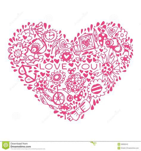 Heart Love Pattern. Template For Design Romantic Greeting