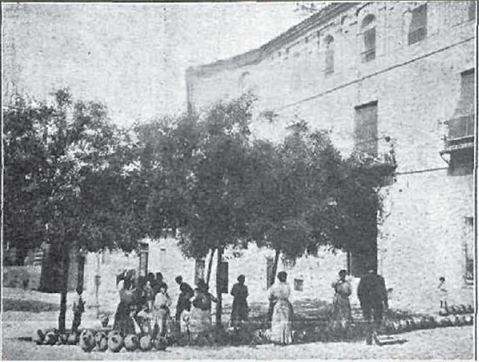 Plaza de San Justo en 1917. Fotografía de E. Molina