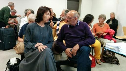 Les deux prévenus lors de la suspension d'audience (Photo PF / Rue89 Strasbourg)