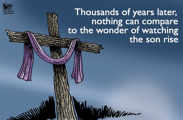 Randy Bish Easter cartoon