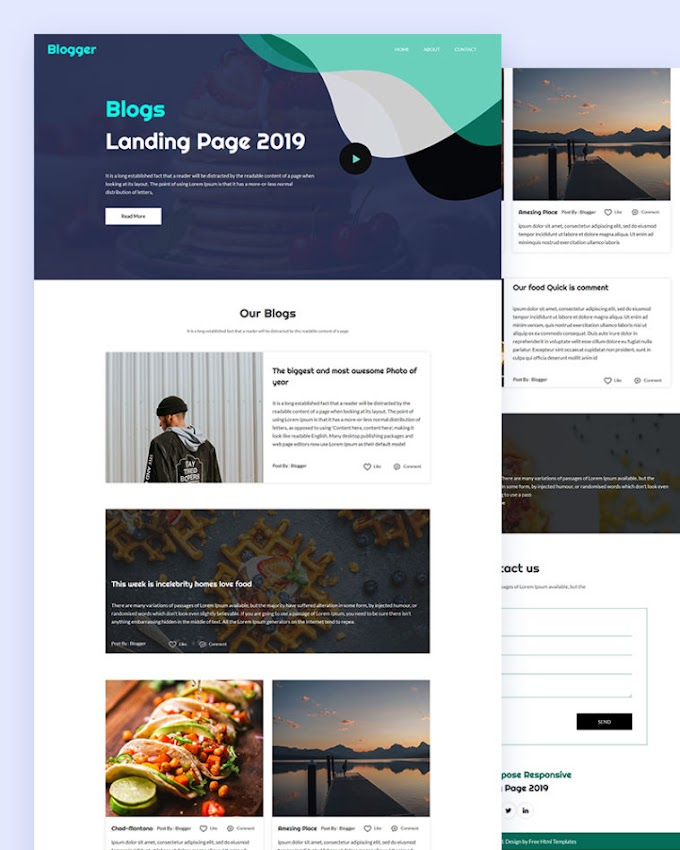 Blogger – Landing Page Html Template