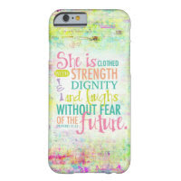 Artistic Proverbs 31:25 Barely There iPhone 6 Case