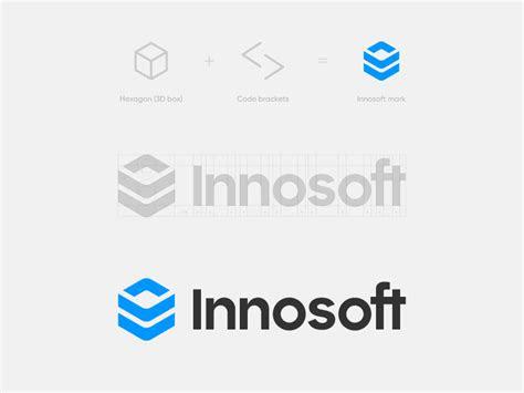innosoft logo design  paulius kairevicius  dribbble