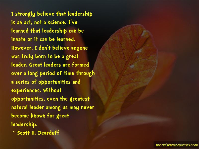 Art And Science Of Leadership Quotes Top 5 Quotes About Art And
