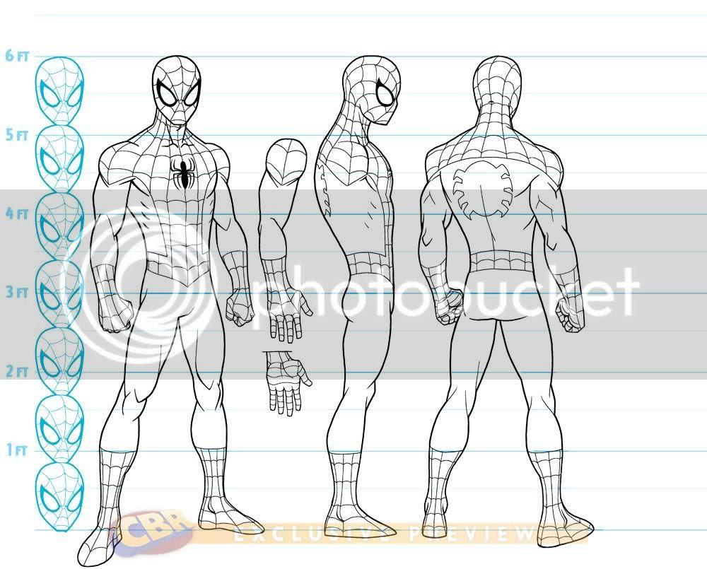 Concept Arts Do Novo Desenho Do Homem-Aranha Pela Disney