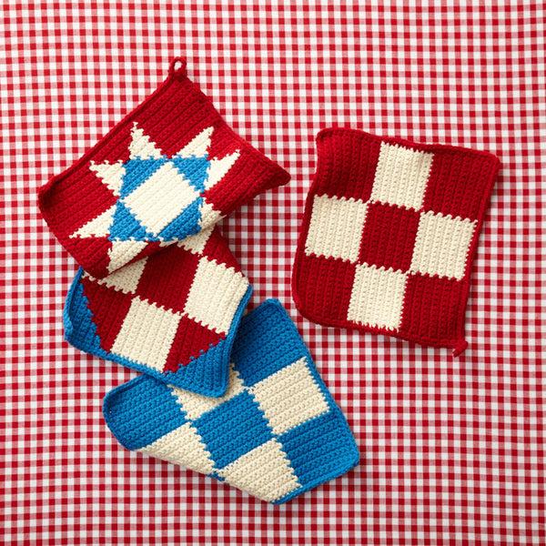 4th Of July Potholders Free Crochet Pattern