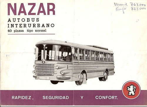 CATÀLEG AUTOBUS NAZAR INTERURBÀ (Col·lecció Sr Àngel Vilar)
