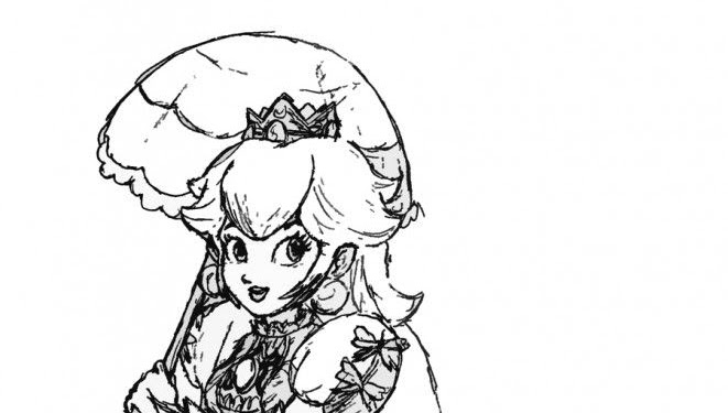 Anime Princess Peach Coloring Pages