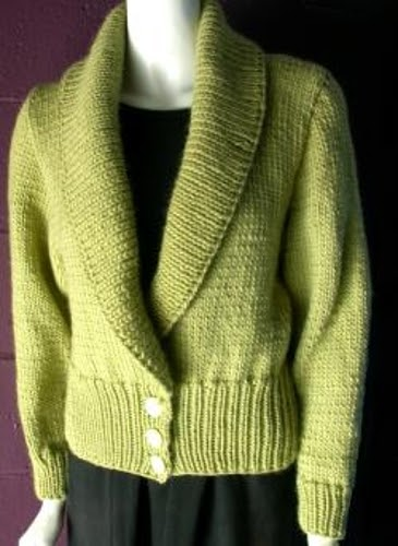 Craft Passions: Shawl Collar Cardigan..# free #knitting ...