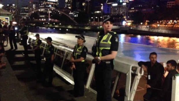 Police guarding the cruise boat location on a RSD seminar in 2014 that was later shut down.