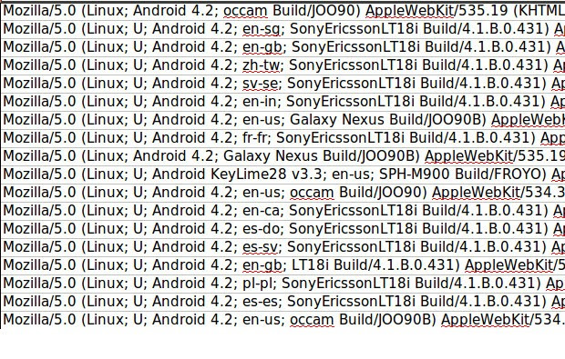 Android 42 shows up in our server logs, shocks no one