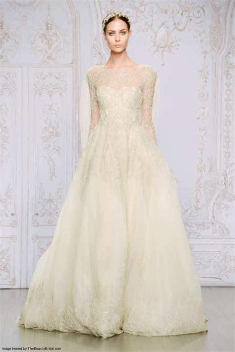 Monique Lhuillier Fall 2015 pretty wedding dresses