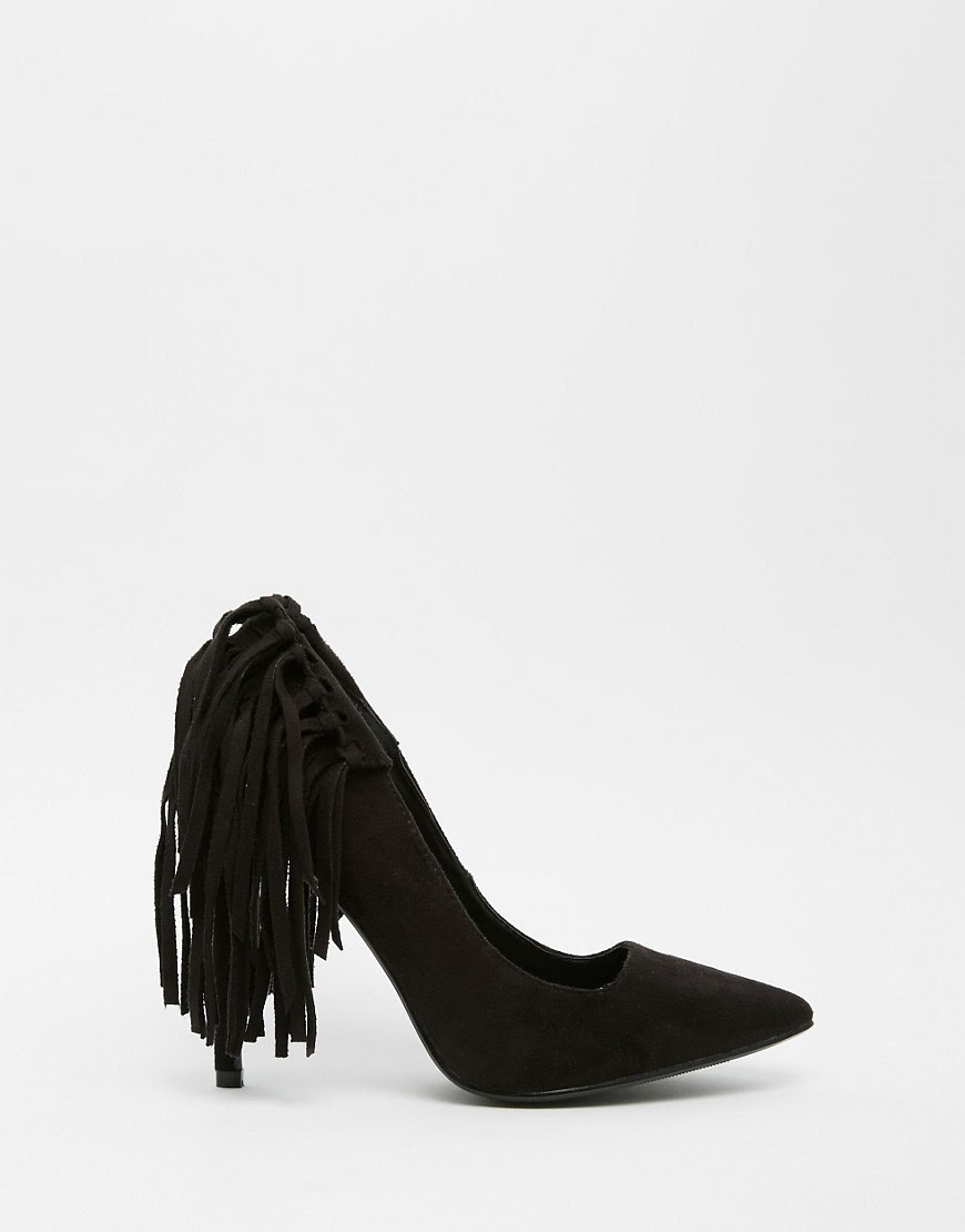Image 2 of Missguided Tassel Fringe Heeled Court