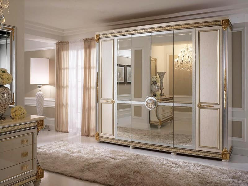 Liberty wardrobe with 6 doors by Arredoclassic Srl - Decorated ...