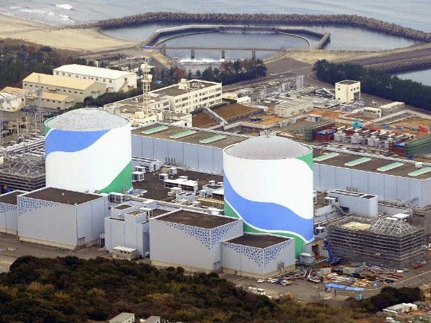 Foto de janeiro deste ano mostra estação nuclear em Sendai, no Japão (Foto: Kyodo News/AP Photo)