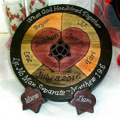 Custom Designed Unity Ceremony Wedding Puzzle Unity