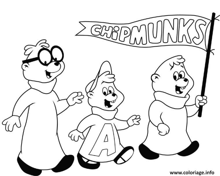 Coloriage Alvin And The Chipmunks Halloween Jecoloriecom