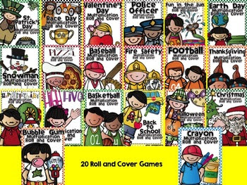 Multiplication Roll and Cover Bundle for the Whole School Year