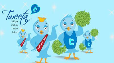 Tweeta Free Twitter Bird Icon Set