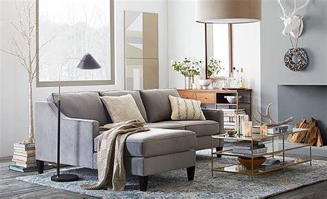 love  west elm mixed metallics living room  westelm