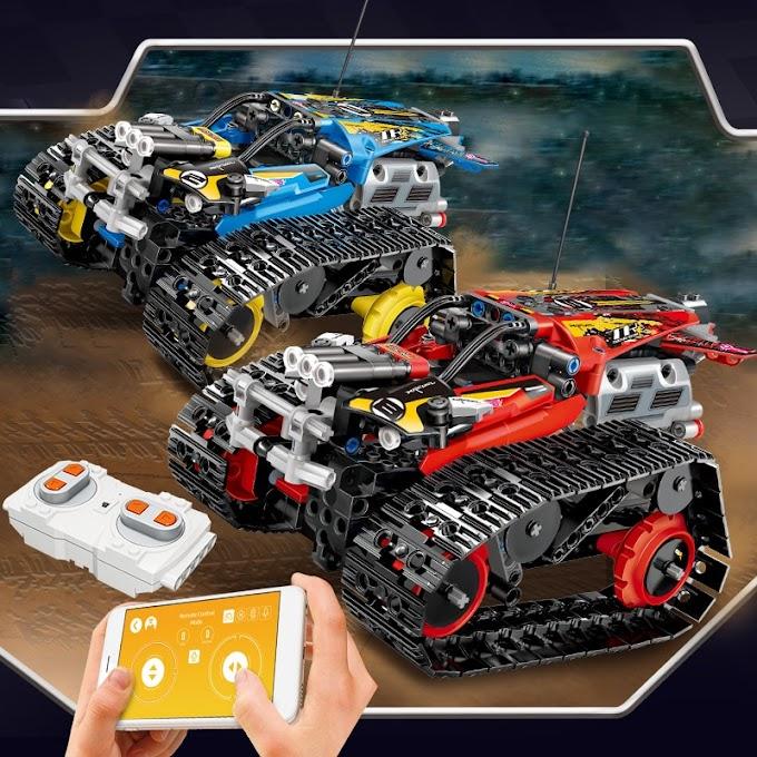 391pcs Creator APP Remote Control Car Bricks Legoingly Technic RC Tracked Racer Model Building Blocks Toys