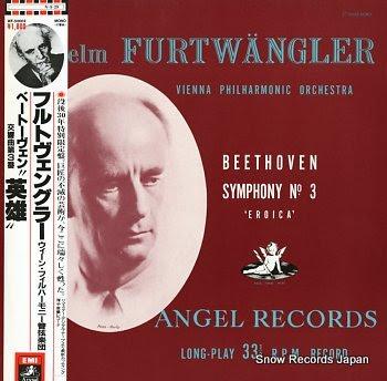 FURTWANGLER, WILHELM beethoven; symphony no.3 eroica