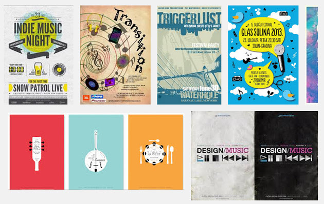 16 Modern Examples of Music for Poster Design Inspiration ...